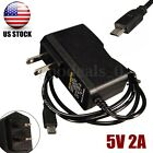 US Plug 2A 5V DC AC USB Power Supply Charger Adapter Cable For Raspberry Pi B+ B