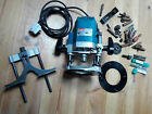 Makita Router 240v with job lot of router bits cutters