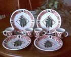 NEW! PERFECT! 4 DINNER PLATES+ 4 CUPS MUGS Garden Fresh PEAS Tabletops Unlimited