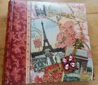 Scrapbooking Paris Theme Photo Book with Premium Padded Hardback Cover