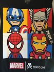 SDCC 2016 Comic Con Marvel Tokidoki shirt Large Captain America Thor Spider Man