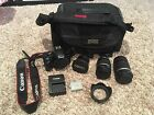 Canon EOS Digital Rebel XSi EOS 450D 122 MP Digital SLR Camera Black Lot
