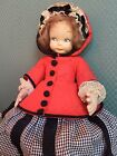 LENCI RARE 1930s Enchanting Character Doll Possibly Little Red Riding Hood