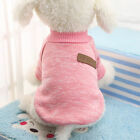 Pet Dog Cotton Sweater Soft Various Puppy Cat Hoodie Coat for Chihuahua S Pink