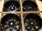 4PC SET 20x12 WHEELS RIM 6x135 6x53 BLACK 44 EXPEDITION F150 NAVIGATOR MARK LT