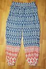 Artisan NY Women's Long Abstract Harem Casual Summer Beach Pants Used Size Large