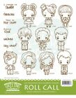 ROLL CALL KIT The Greeting Farm Cling Mount Rubber Stamp Wild Sprouts RETIRED