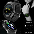 Y1 Bluetooth Round Smart Wrist Watch Phone Mate For Android iPhone Black US