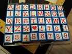 DOT ALPHABET  NUMBERS Inkadinkado Foam Mt Stamp LETTERS Caps Heart Star