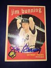 JIM BUNNING 1959 Topps #149 Baseball Card AUTO Autograph Signed DETROIT TIGERS