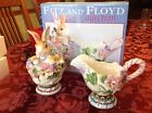 Fitz and Floyd Halcyon Collection Bunny Sugar and Creamer Rabbit New In Box