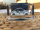 3D Laser Etched Glass Crystal 3 1 8 x 2 x 2 VW Volkswagon Beetle Car