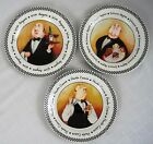 Mud Pie Tracy Flickinger Fat French Butler Plates 8 inch Salad Dessert Lot of 3
