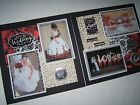 Wedding Scrapbook pages Red Pages Ready for 4 by 6 photos premade 12 by 12
