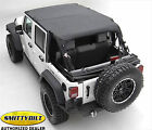 Smittybilt 94635 Extended Top for 10 17 Jeep Wrangler JK Unlimited 4 Door Black