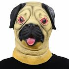 PARTY STORY Pug Dog Latex Animal Head Mask Novelty Halloween Costume Rubber NEW