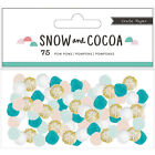 American Crafts Crate Paper Snow And Cocoa Collection Pom Poms