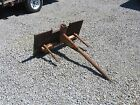 Hay Bale Spear Fork Attachment for Tractor 3 Point Hitch or skid steer