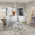 50 Pet Dog Grooming Bath Tub Station Professional Stainless Steel Wash Shower