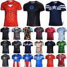 Men Marvel Avengers Super Hero T Shirt Compression Base Layer Cycling Jersey Top