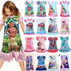 Girls Kids Disney Dress Cartoon Children Pajamas Nightgown Sleepwear Nightwear