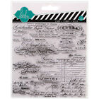 American Crafts Heidi Swapp Mixed Media Clear Stamps 55 X 55 Script