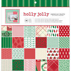 American Crafts Christmas 12 x 12 Paper Pad Holly Jolly