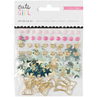 American Craft Crate Paper Cute Girl Collection Small Bow Embellishm