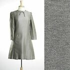 S Vintage 1960s 60s Abe Schrader Mod Space Age Dress Silver A Line Scooter