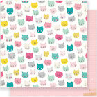 American Craft Crate Paper Cute Girl Collection 12 X 12 Double Sided Paper Sassy