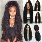 Black Synthetic Lace Front Wig Loose Curly Hair Synthetic Wigs for Fashion Women