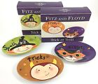 HTF Fitz & Floyd Trick Or Treat Snack Plates Set Of 3 Devil Cat Witch Halloween