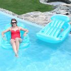 SunSplash Sun Lounge 59 x 38 Swimming Pool Chair Float Teal 2 Pack