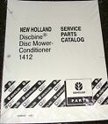 New Holland Tractor Parts Catalog  Disc Mower Conditioner 1412