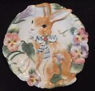 Fitz & Floyd HALCYON Canape Cookie Serving Dish Plate Easter Bunny Majolica 9