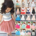 US Kid Toddler Girl Princess Dress Baby Party Wedding Pageant Tulle Tutu Dresses