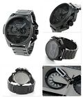 New DIESEL DZ4362 Ironside Black Ion Plated Stainless Steel Men's Watch With Box