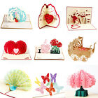 3D Pop Up Card Valentine Birthday Wedding Anniversary Greeting Cards Invitations