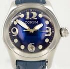 Corum 45mm Blue Boutique Bubble Stainless Steel Date Mens Watch 163.150.20