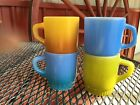 Vintage-Fire King- Lot of 4 Stackable Mugs  17162N S81