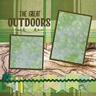 GREAT OUTDOORS 2 Premade Scrapbook Pages EZ Layout 2095