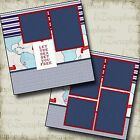 ON THE SEA CRUISE 2 Premade Scrapbook Pages EZ Layout 2077
