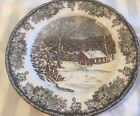Friendly Village By Johnson Bros. The School House Dinner Plate England 1883