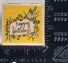 HAPPY BIRTHDAY Vap Scrap Rubber Stamp Celebration Occasion Party Card T76