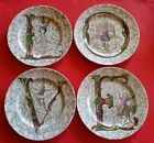 4 RARE FITZ and FLOYD L.O.V.E PLATES LOVE VALENTINE'S DAY cherub CUPID