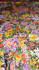 Bold Bright Color Floral Print Cotton or Cotton Blend in 2 Sizes 2 yards 45
