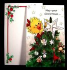 Suzy's Zoo Christmas Tree Star Cute Character Ornaments Greeting Card - NEW