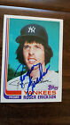 1982 TOPPS SIGNED AUTO TRADED CARD ROGER ERICKSON NEW YORK YANKEES TWINS # 30T