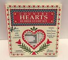 COUNTRY HEARTS Rubber Stampede Valentines Day Love Foam Rubber Stamps Set Lot