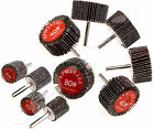 2 or 5pcs 6mm Shank 40/80 Grit Flap Wheel Disc Sanding 25/50x25mm for Drill